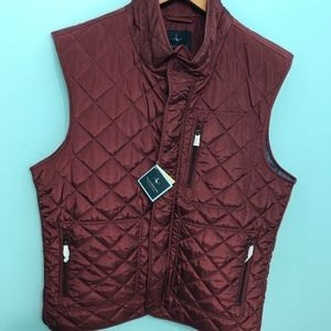 Men's Tailorbyrd Sleeveless Full Zipper Jacket NWT